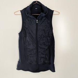 ALO Yoga Full Zip Vest Navy Blue Size Small